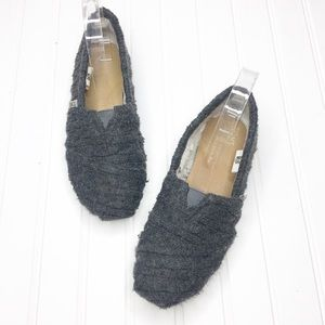 Toms | Gray Sweater Slip Ons
